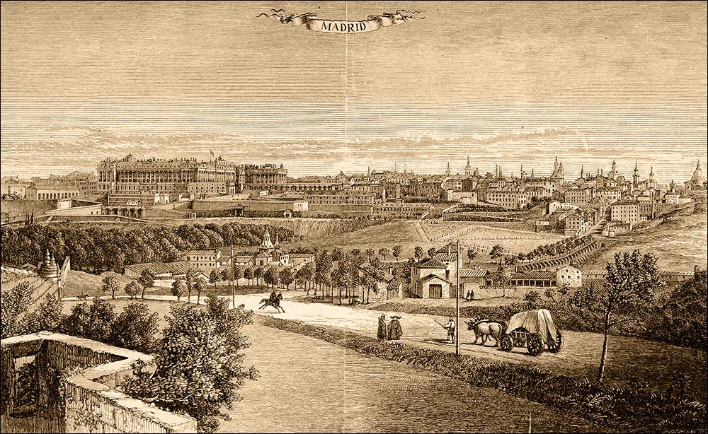 Панорама Мадрида, 1866 год