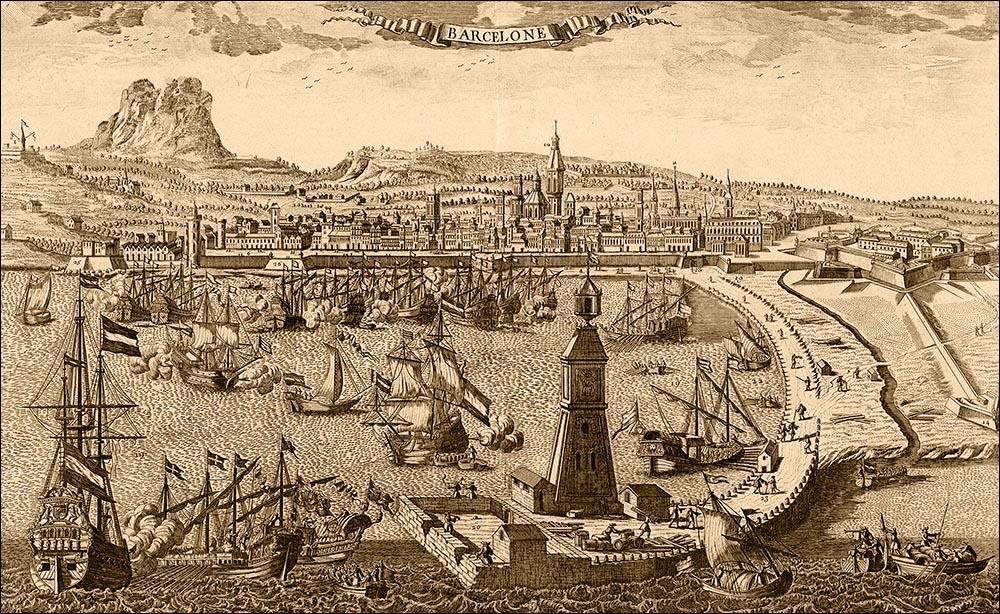 Панорама Барселоны, 1750 год