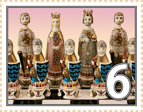Набор средневековых шахмататных фигур