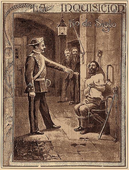 Пытки заключенного в крепости Монжуик