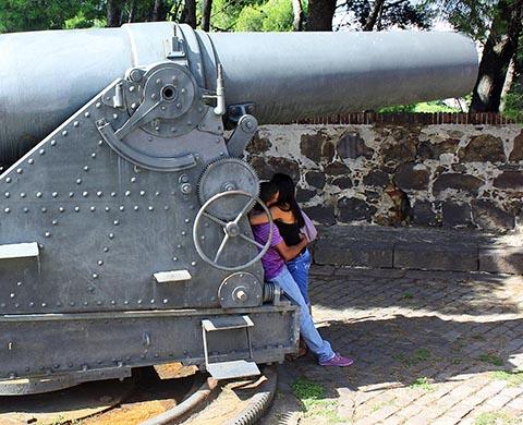 Крепость Монжуик. Артиллерийская батарея