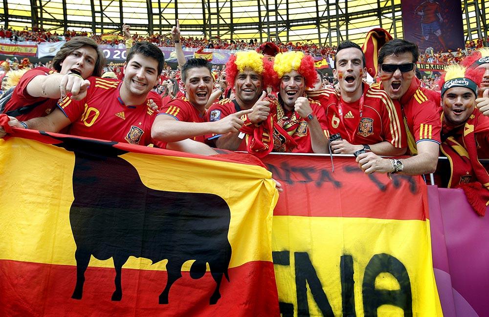 Испанские болельщики в Польше на Евро-2012