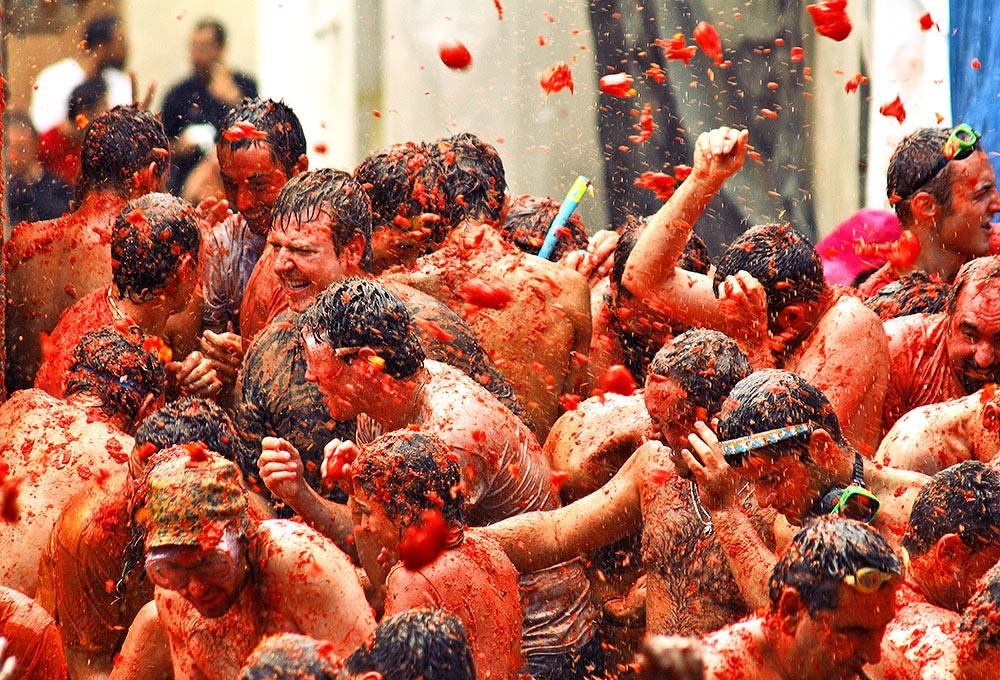 Праздник Томатина в Буньоле