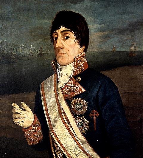 Командующий испанской эскадры Хосе де Бустаманте-и-Герра