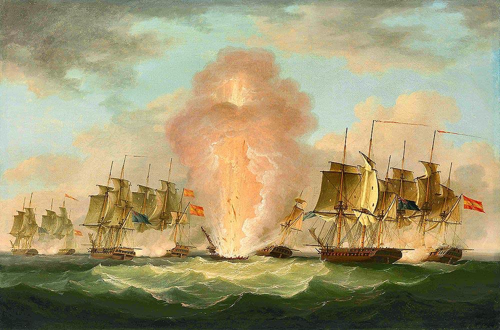 Взрыв фрегата Nuestra Señora de las Mercedes