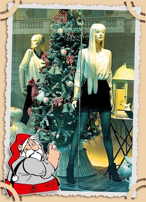 Рождественские витрины Барселоны