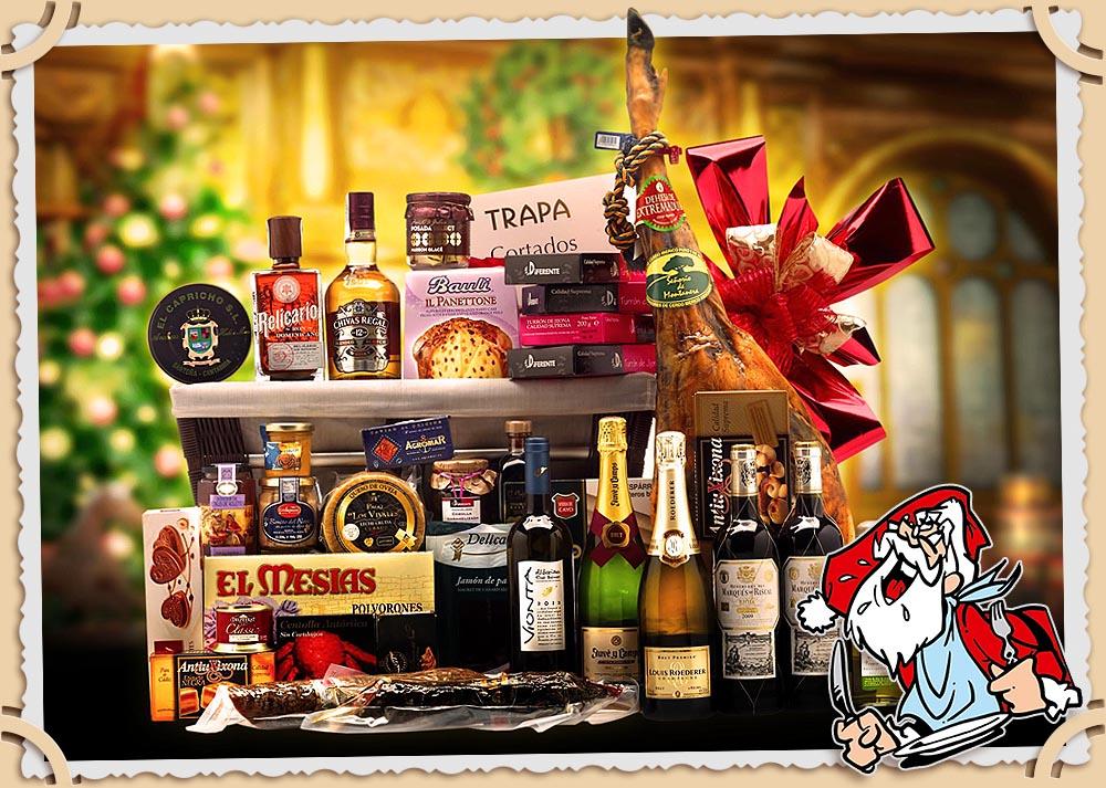 Рождественская продуктовая корзина