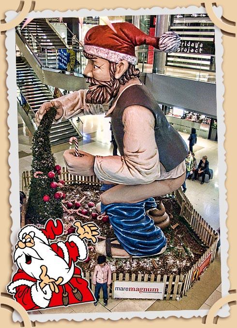 Фигура каганера в торговом центре Maremagnum в Барселоне