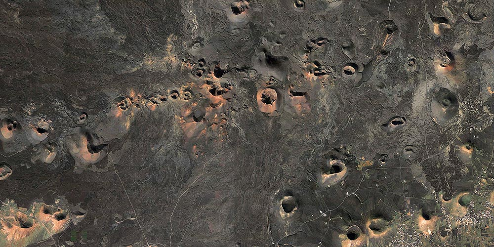 Осторов Лансароте на спутниковом снимке