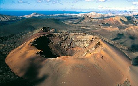 Вулканический парк Тиманфайя на острове Лансароте
