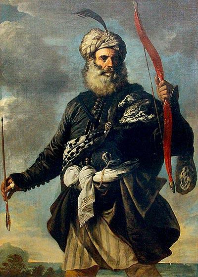 Пьер Франческ Мола. «Восточный воин, или берберский пират». 1650, холст, масло