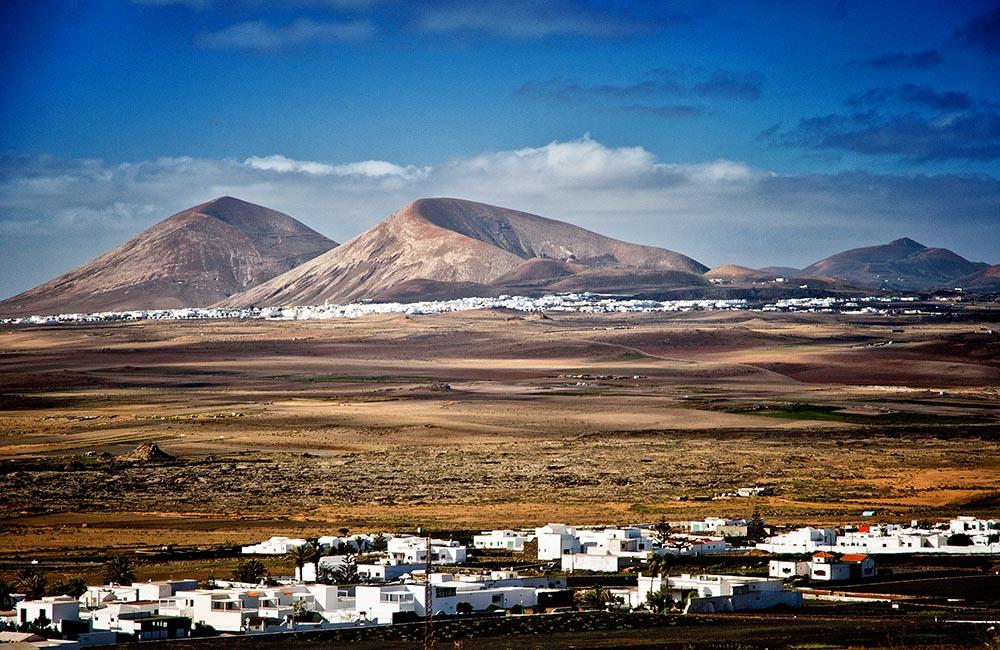 Вулканические пейзажи острова Лансароте