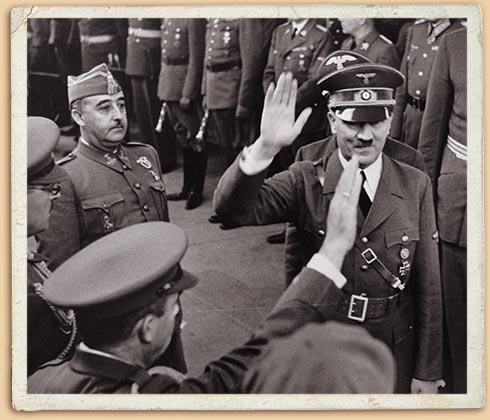 Встреча Франко и Гитлера в Андайя (Франция). 23 октября 1940 г.