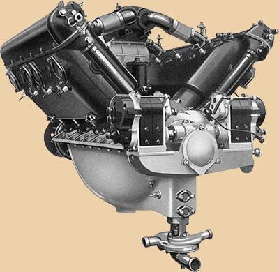 Авиационный мотор Hispano-Suiza 300 CV