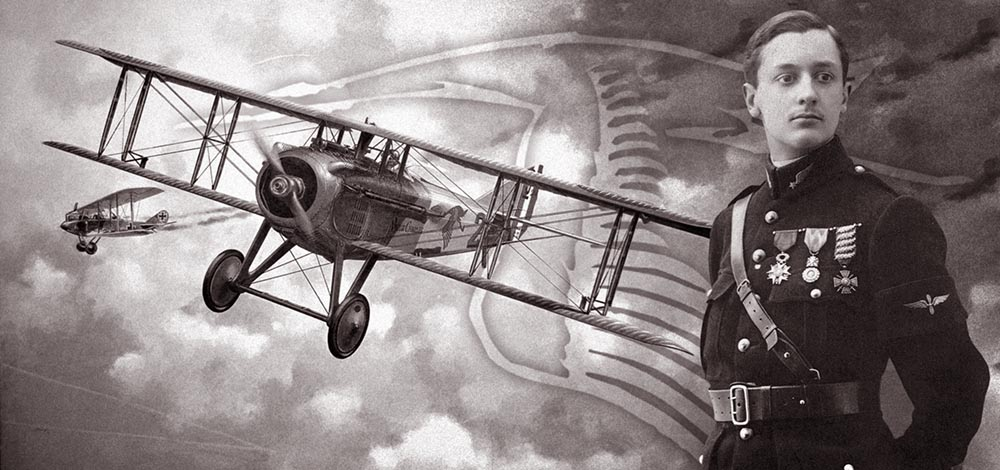 Жорж Гинемер и его истребитель SPAD VII