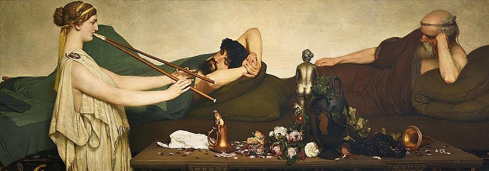Лоуренс Альма-Тадема. «Сиеста или помпейская сцена», 1868, холст, масло