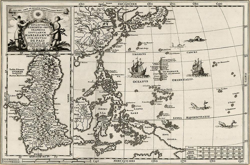 Карта острова Гуам и Марианского архипелага 1737 г.